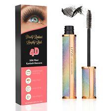 4D Silk Fiber Eyelash Mascara Extension Makeup Black Waterproof Eyelashes USA