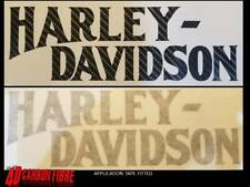 2 x CARBON look HARLEY DAVIDSON style Tank decal motorcycle  Stickers chopper