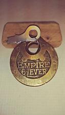 antique/vintage miller empire 6 lever push key pancake padlock w/key     186