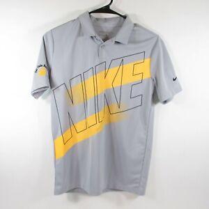 Nike Dri-Fit Polo Shirt   Youth Large   Yellow & Gray Stripe Fair Oaks Ranch