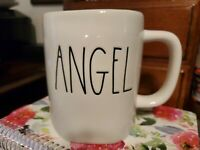 "NEW! Rae Dunn by Magenta L/L ""ANGEL"" Coffee Mug *HTF* RARE"
