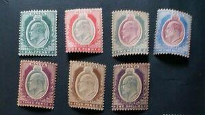 MALTA 1903  0.5d to 1s SG 38 - 44 Sc 21 - 27  Mint No Gum