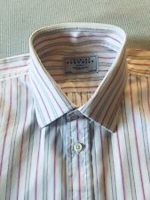 "Charles Tyrwhitt, Pink White Stripe Cotton Shirt. 16.5"". VGC"