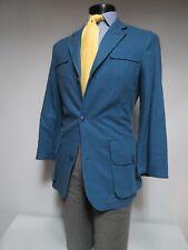 J Peterson Slate blue Norfolk style back belted sport coat 38 R