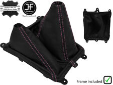 PINK STITCH LEATHER MANUAL GEAR & HI LOW BOOT + FRAME FOR FORD RANGER 06-11