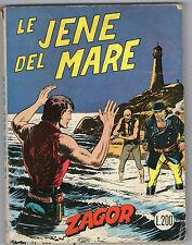 ZAGOR SCRITTA ROSSA N. 24 – LE IENE DEL MARE – 1972 - LIRE 200