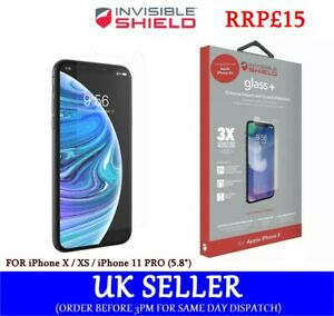 👉For iPhone 11 PRO/ X/ XS👈ZAGG InvisibleShield Tempered Glass Screen Protector