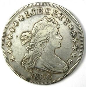 1800 Draped Bust Silver Dollar $1 Coin - XF Details (EF) - Rare Coin!
