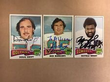 Nick Buoniconti Miami Dolphins Signed 1975 Topps FB Card with COA
