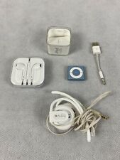 IPOD SHUFFLE Apple 4th Generation 2GB Blue (With Headphones - New) Cable Bundle