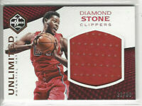 2016 Limited Unlimited Materials #d 22/99 Diamond Stone #32 Rookie L.A. Clippers