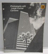 Kodak Photography Large Format Cameras O-18 1977 1527894 Pamphlet Booklet - B129
