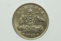 1960 Sixpence Variety Error Mis-Strike Elizabeth II in Uncirculated Condition