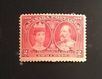 Stamps Canada Sc98 2c carmine King Edward & Queen Alexandra of 1908 MNH OG