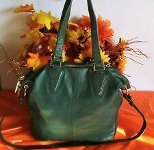 """Women's Cool Extra Large Green Leather """"KELSI DAGGER"""" Satchel Shoulder Bag Purse"""