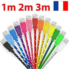 CABLE CHARGEUR POUR IPHONE 6 8 7 6S 5S 5C SE X PLUS 1m 2m 3m IPAD iPOD SYNC USB