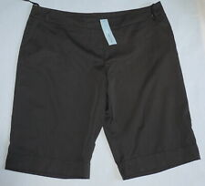 Red Herring Brown Smart Shorts Size 18 NWT