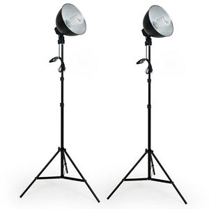 2x Profi Fotostudio Studioleuchte Studioset Softbox Studiolampe + Stativ Photo