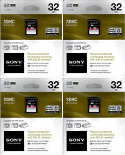 Sony 128GB (4X32GB ) SDHC Memory Card Class 10 SF-32NX/TQ2 SD Sealed Packages