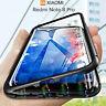 COVER per Xiaomi Redmi Note 8 Pro ORIGINALE MAGNETICA 360 DOPPIO VETRO TEMPERATO