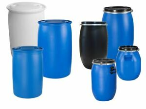 Spundfass, Deckelfass, Futtertonne Futterbehälter Farbe blau schwarz natur NEU.