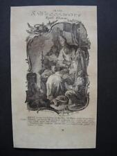 Icône willifridus HOLY CARD, SANTINO, engraving, gravure - 16,5x10cm