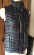 Talbots Plaid Goose Down Puffer Vest XS NWOT