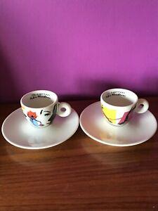 ILLY ESPRESSO BY PEDRO ALMODOVAR-2 ESPRESSO CUPS