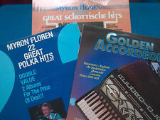 4 x VINYL ALBUMS OF ACCORDEON MUSIC - MYRON FLOREN & JAN GORISSEN