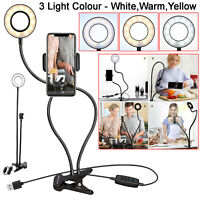 24 LED SELFIE RING LIGHT FOR PHONE CAMERA LAMP FLASH MAKEUP VIDEO CLIP STAND KIT