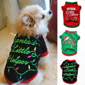 Christmas Cat Puppy Small Dog Vest Sweatshirt T Shirt Pet Dog Clothes Costume
