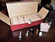 11 Vintage MCM Individually Boxed Black Knobs Drawer Pulls Handles NOS