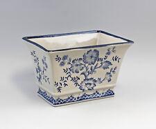 Blumen-Schale mit Floraldekor Vase Blumentopf Pflanzschale Keramik 9977371
