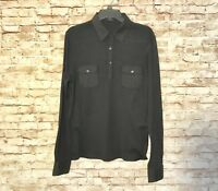 Theory  Black Long Sleeve Shirt Size L  #2133