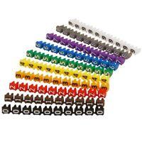 Kabelmarker-Clips Kabel Marker bedruckt mit Ziffern 0-9 Kabeldurchmesser bis 3mm