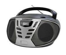 Portable CD Boombox with AM/FM Radio KORAMZI CD55-BKS New