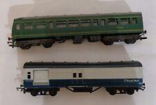 OO Gauge Hornby R157/158 #M79632 trailer car & Triang R23 Royal Mail Blue Grey
