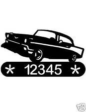 57 CHEVY METAL HOME ADDRESS SIGN WALL DECOR VINTAGE CAR