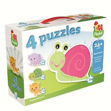 Playlab 4-In-1 Puzzles 4 x 2 Pieces Children's Puzzle by Jumbo - New & Sealed