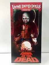 """Living Dead Dolls Amanecer de los muertos a Cuadros Camisa Zombie Figura Mezco 10""""/25cm"""