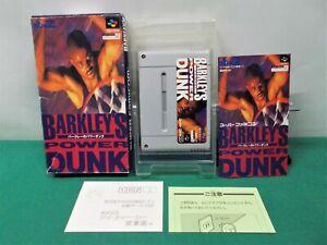 SNES -- BARKLEY'S POWER DUNK -- Boxed. Super famicom, JAPAN Game. 14444