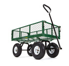 "Gorilla Carts GOR400 400-lb. Steel Mesh Garden Cart with 10"" Tires"