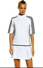 Nike sz S Women's COURT Tennis Dress  NEW $150 802607 100 White / Grey