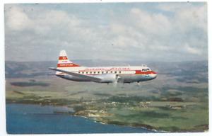 Hawaiian Airlines 1955 Postcard - Vintage HA Convair 340 Airplane Hawaii Aloha C