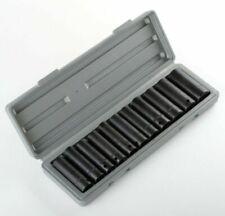 New 12pc 1/2' Dr Drive Deep Air Impact Socket Sockets Set SAE w/CASE 3/8 -1 inch