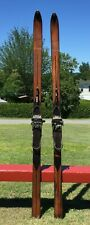 "Very Nice OLD WOODEN Skis 75"" Long Snow Skiis Must See!"
