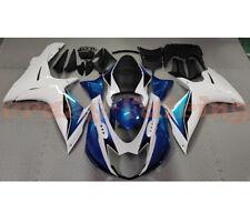 motorcycle fairing kit bodywork for suzuki gsxr600 gsx-r750 2011-2018 blue white (Fits: Suzuki)