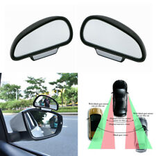 2Pcs Wide Angle Car Rear Side View Blind Spot Mirror Convex Mirror ABS Universal