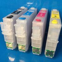 4 Sublimation REFILLABLE EMPTY Cartridges Epson Workforce WF 7710 dwf 7720 dtwf
