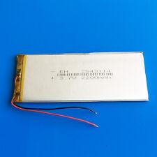 3.7V 2200mAh Li Po Batería para Tablet PC DVD GPS Cámara Grabadora Pad a mediados de 3543114